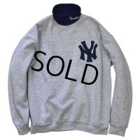 【90's】【ビンテージ】 【USA製】【NYヤンキース】 【メジャーリーグ】【ニューヨークヤンキース】 【ハイネック】【スウェット】 【タートルネック】【サイズXL】