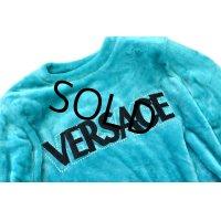 90's【ビンテージ】【ブートレグ】【ヴェルサーチ】【ベロア】【スウェット】【サイズL】