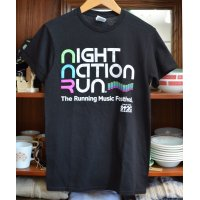 【ビンテージ】 【night nation sun】黒【Tシャツ】 【サイズS】