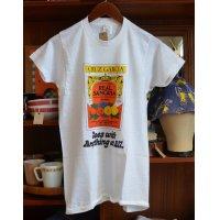 80's【ビンテージ】 デッドストック【USA製】【へインズ】hanes【CRUZ GARCIA REAL SANGRIA】【Tシャツ】 【サイズM】