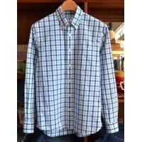 【ブルックスブラザーズ】【青×水色】【ボタンダウンシャツ】【サイズXS】