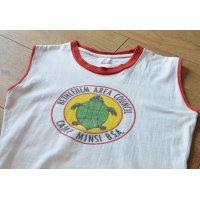 60's【ビンテージ】【ボーイスカウト】ノースリーブ Tシャツ レディースM程度