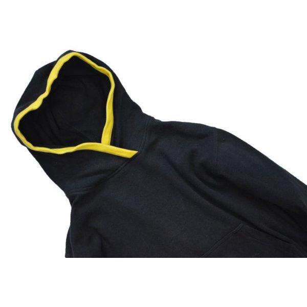 画像4: ビンテージ【regatta sport】黒x赤黄 縁取り【スウェットパーカー】【ロング丈】【サイズS】