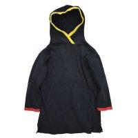 ビンテージ【regatta sport】黒x赤黄 縁取り【スウェットパーカー】【ロング丈】【サイズS】