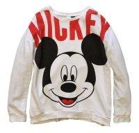 【ウォルトディズニー】ミッキーマウス【白・ホワイト】【スウェット】【サイズL】