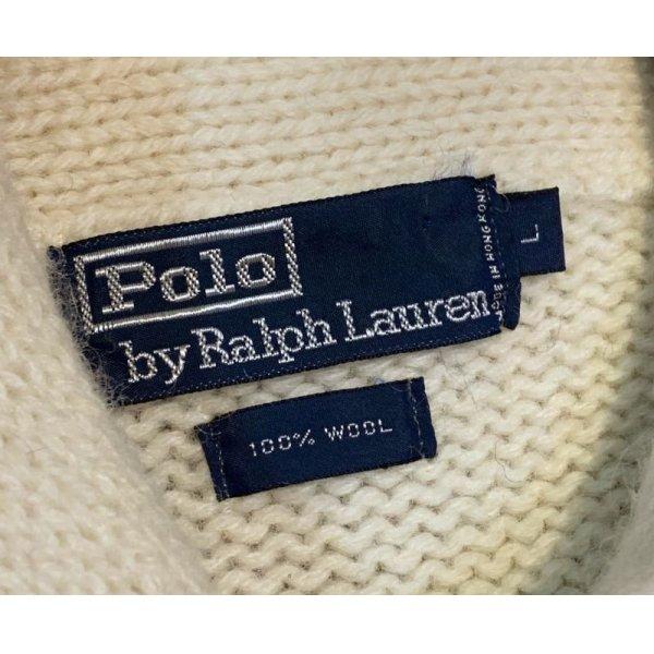画像2: 【ラルフローレン】【トリコロール】【ショールカラーセーター】【サイズL】