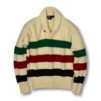 【ラルフローレン】【トリコロール】【ショールカラーセーター】【サイズL】