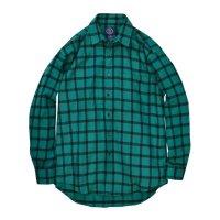 80's【ビンテージ】【オールドギャップ】【GAP】緑x黒【ブックチェック】【ネルシャツ】フランネルシャツ【サイズM】