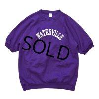 【USA製】【ビンテージ】【紫】【半袖スウェット】【WATERVILLE】【サイズXL】