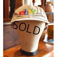【ビンテージ】 【ベージュ】【ebay.com】【ベースボールキャップ】【フリーサイズ】