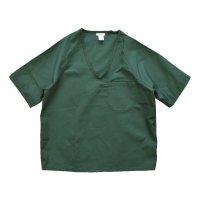 【デッドストック】USA製【緑】【メディカルユニフォーム】【ワークシャツ】ナースシャツ【半袖シャツ】【サイズM】