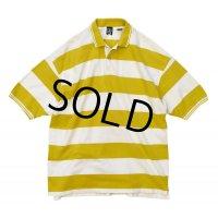 【ビンテージ】【GAP】オールド ギャップ【白×黄色】ボーダー柄ポロシャツ【サイズL】