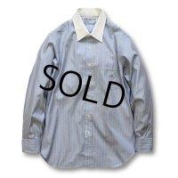 【USA製】【インディヴィジュアライズドシャツ】【ストライプ】【コットンシャツ】【15 1/2-33】