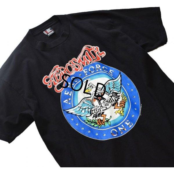 画像1: 90's【Aerosmith】【エアロスミス】【バンドTシャツ】【黒】ロックTシャツ 【ツアーT】【サイズXL】