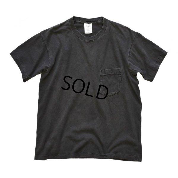 画像1: 90's【ビンテージ】【USA製】【GAP】【オールドギャップ】黒無地【ポケットTシャツ】 【サイズM】