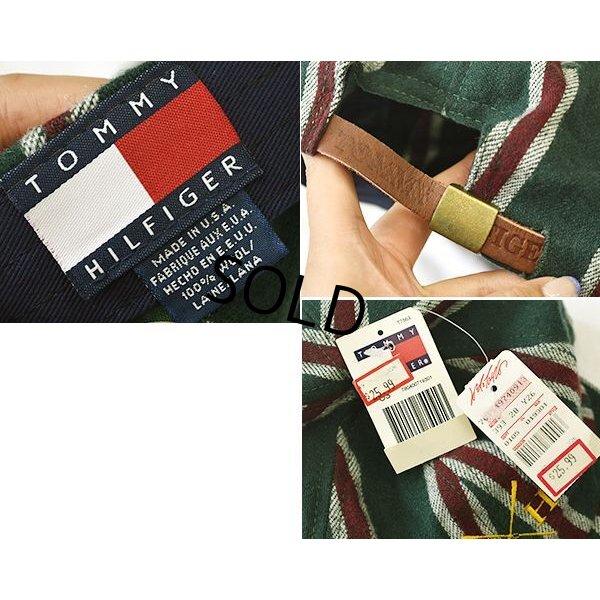 画像2: 新品未使用!!【USA製】【トミーヒルフィガー】【緑×赤×白】【ウールキャップ】