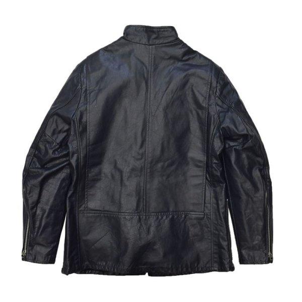 画像3: 【ビンテージ】【黒】【ジップアップ】【オールドレザージャケット】【サイズ11】レディース古着